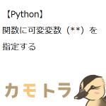 【Python】関数に可変変数(**)を指定する