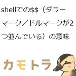 shellでの$$(ダラーマーク/ドルマークが2つ並んでいる)の意味